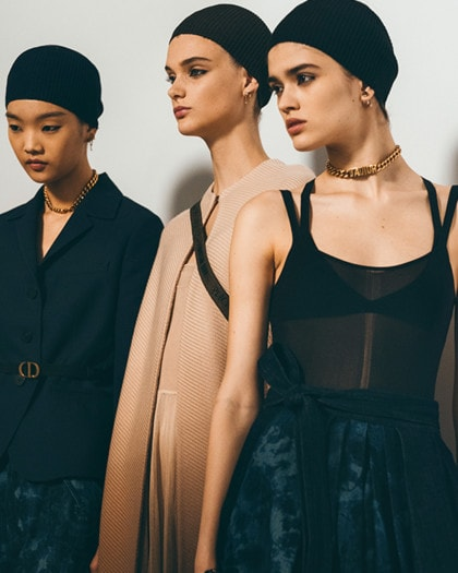 Backstage at the Ready-to-Wear show