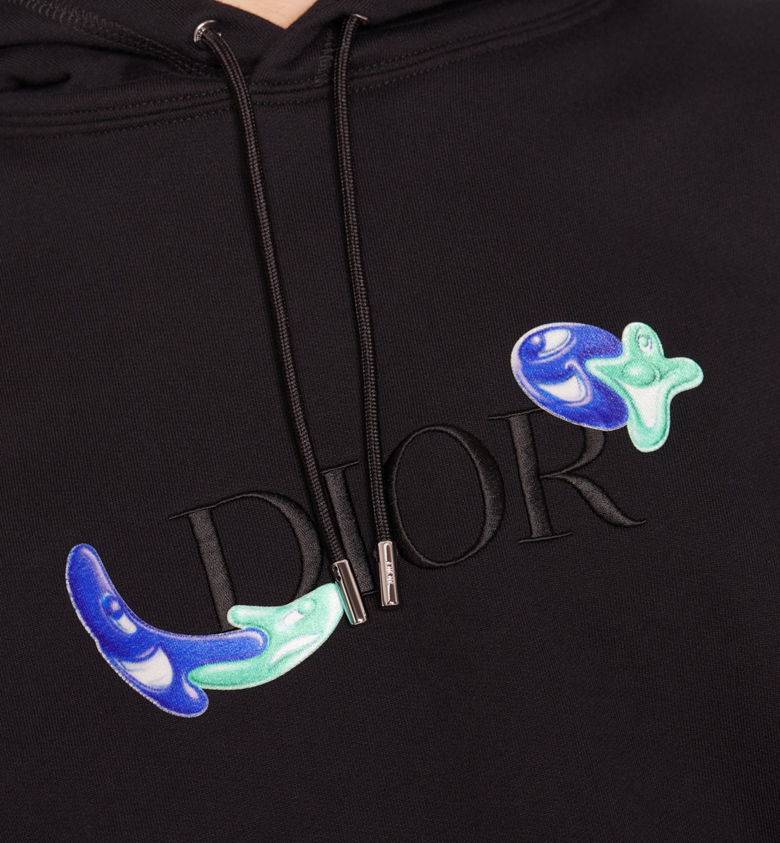 Sweatshirt à capuche oversize DIOR AND KENNY SCHARF Molleton de coton noir