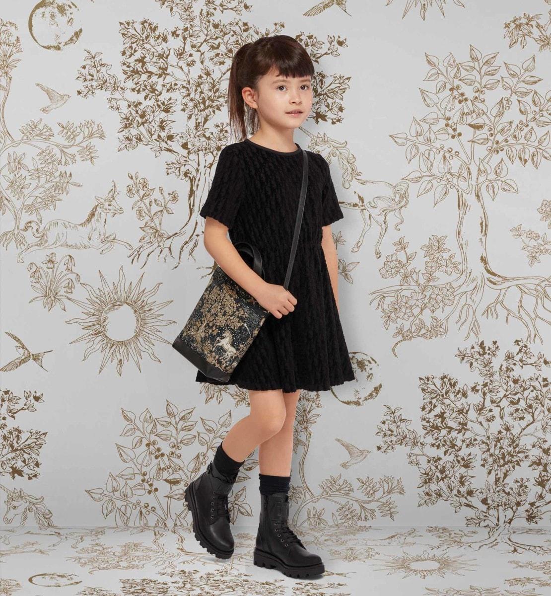 Robe évasée Jacquard de velours Dior Oblique noir