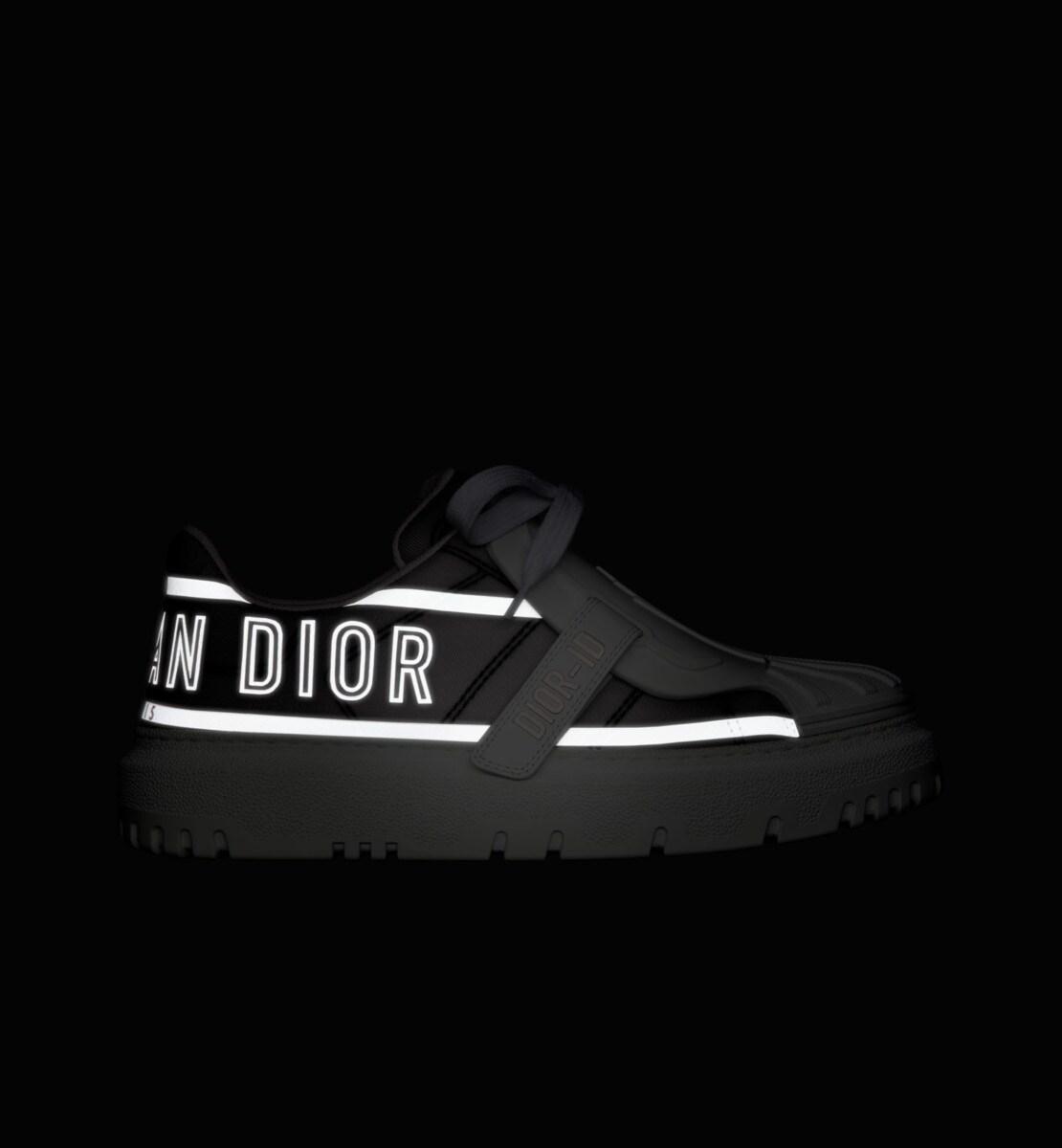 Sneaker Dior-ID Tissu technique gris et réfléchissant