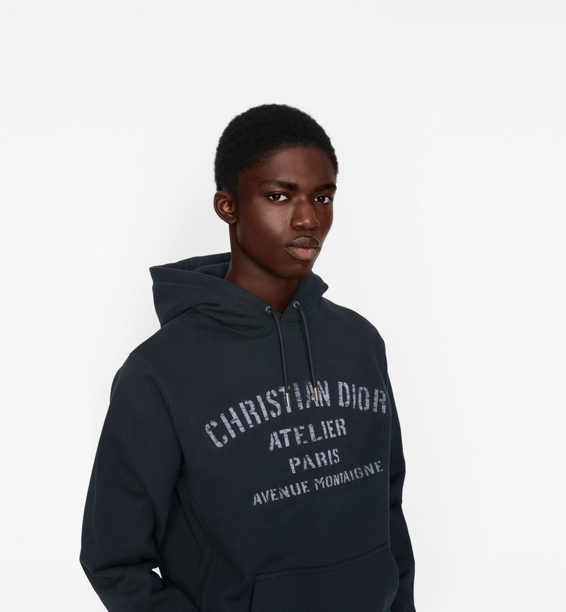Oversized 'Christian Dior Atelier' Hooded Sweatshirt