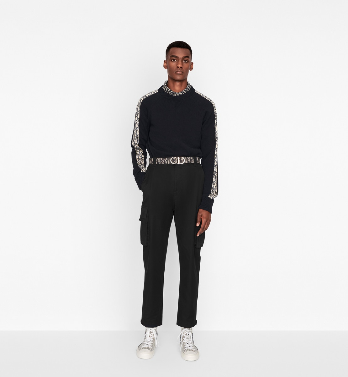 Sweater with Dior Oblique Inserts