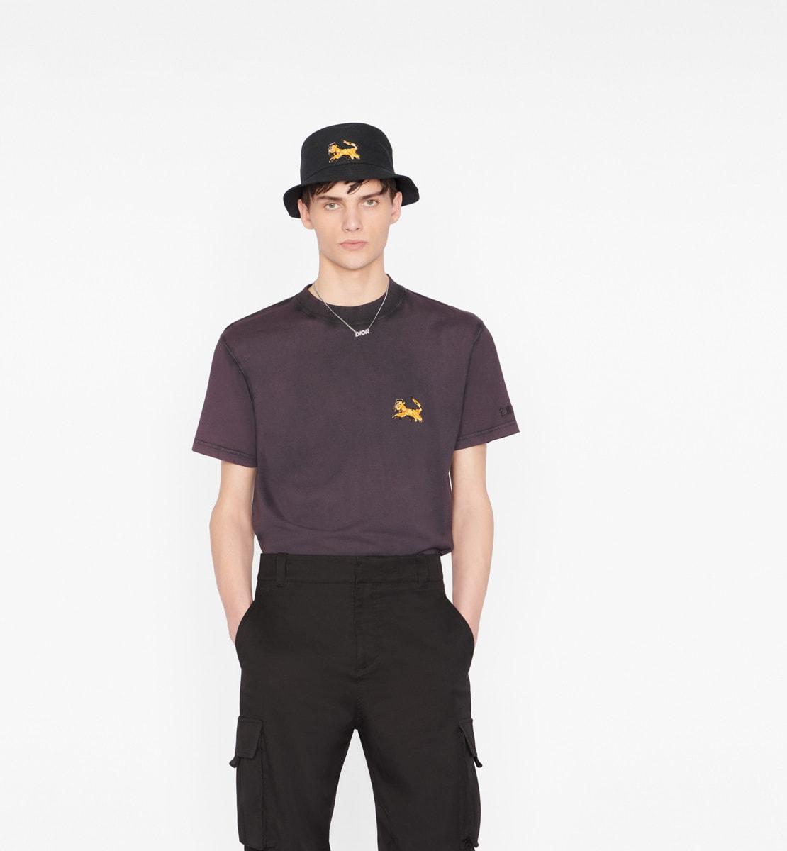 T-shirt oversize DIOR AND PETER DOIG Jersey de coton mauve