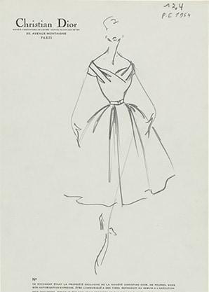 Haute Couture printemps-été 1954, ligne Muguet Collection Dior Héritage,  Paris 2f088c74947